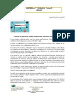 INFORMATIVA REFORMA LABORAL DESPIDO JUSTIFICADO Y TERMINOS 2020