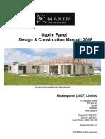 Maxim Panel Design Construction Manual 2008