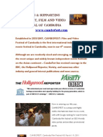 CAMBOFEST Cambodia Film Festival 4th Edition Sponsorship Info Packet