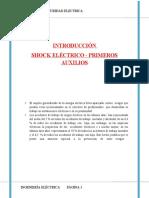 SHOCK ELECTRICO Y PRIMEROS AUXILIOS