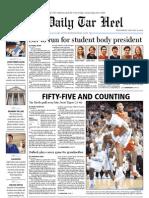 The Daily Tar Heel for January 19, 2011