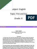Fire and Ice summary