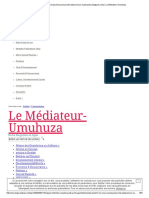 Imigani n'ibitekerezo binyuranye (site www.umuco-nyarwanda.blogspot.com) _ Le Médiateur-Umuhuza