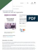 Travailler son sens de l'organisation _ fiche pratique pdf à télécharger