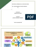Cuadro sinóptico - Prácticas pedagógicas en educación mediadas por