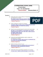 Development Practice Sheet 3
