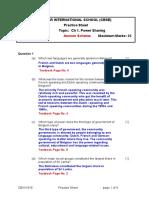 Power Sharing Practice Sheet