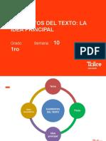 RV 1° - sem 10 - idea principal - PPT