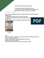 VW Amarok Oil and Filter Change