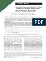 Effect of statin treatment on vasospasm on hsa