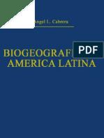 Cabrera & Willink, Biogeografía de America Latina. 1973.