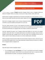 GPI - FOLHA DIRIGIDA - PORTUGUÊS - AULA 01 - NORMA CULTA X NORMA COLOQUIAL