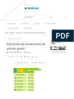 Ejercicios de ecuaciones de primer grado-RESUELTOS