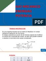 Clase 6  TRABAJO - ENERGIAS - POTENCIA