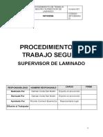 PROCEDIMIENTO DE TRABAJO SEGURO PARA EL USO CORRECTO DE SUPERVISOR LAMINADO