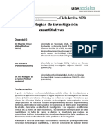 Estrategias de Investigacion Cuantitativa Programa 2020