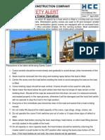 Safety Alert for Gantry Crane