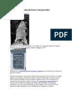 Monumentos conmemorativos del genocidio