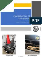 Photos of Cambridge Police Department inventory