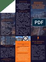Blue Orange Electricity Corporate Tri-fold Brochure