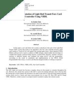 FPGA Implementation of Light Rail Transit Fare Card