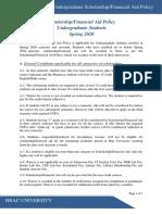 BracU Scholarship_Financial Aid Policy (Undergraduate) Jan 27 2020