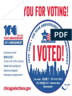 """Chicago """"I Voted!"""" stickers"""