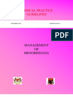 CPG Malaysia - Management of menorrhagia