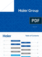 Haier Group Presentation (March 2014)