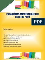 PARADIGMAS EMPRESARIALES  Y SOCIALES EN EL PERÚ