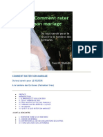 Comment rater son mariage