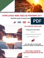 Offre WE de PRINTEMPS_NRJ GLOBAL_Mai 2017