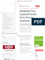 MakeMyTrip Limited Porter Five (5) Forces & Industry Analysis [Strategy]