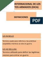DERECHO INTERNACIONAL DE LOS CONFLICTOS ARMADOS (DICA.pptx