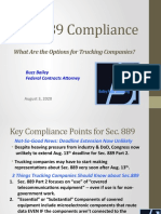 Section 889 Compliance