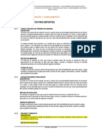 ESPECIFICACIONES TECNICAS DEPORTES DE MONTAÑAS Y COMPLEMENTOS