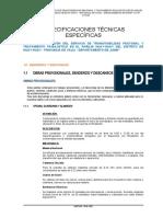 ESPECIFICAICONES TECNICAS SENDEROS Y DESCANSOS