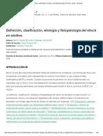 fisiopatologia de shock