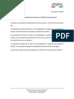 Parte MSSF - Tres Fallecidos Con Covid19!06!08-20
