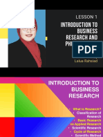 Introduction to Business Research & Philosophy of Science by Lalua Rahsiad