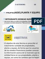 PROPIEDAD,PLANTA Y EQUIPO
