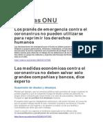 Noticias ONU