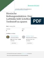 429. Mail, et  al. (2015) Bionische Reibungsreduktion, Bremen