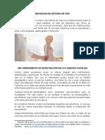 DEFINICIÓN DE HISTORIA DE VIDA