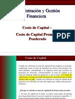 COSTO DE CAPITAL PROMEDIO PONDERADO - CLASE 1