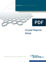 Crystal Reports Setup