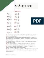 EJERCICIOS DE PRACTICA multiplicación y división de fracciones