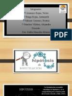 HIPOTESIS DE INVESTIGACION- Exposición