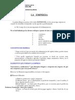 La Empresa- clases 3-4-5-6