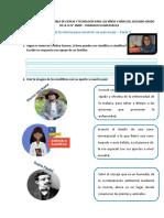 Ficha de Práctica Del Área de Ciencia y Tecnología Para Los Niños y Niñas Del Segundo Grado de La i